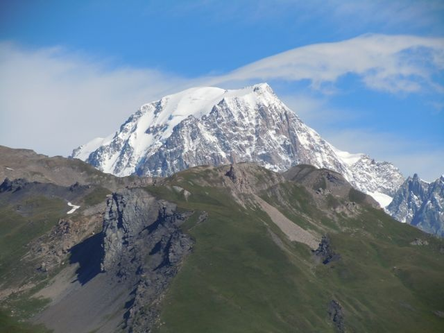 Mont Blanc, view from Col du Petit St.-Bernard, France, July 2012