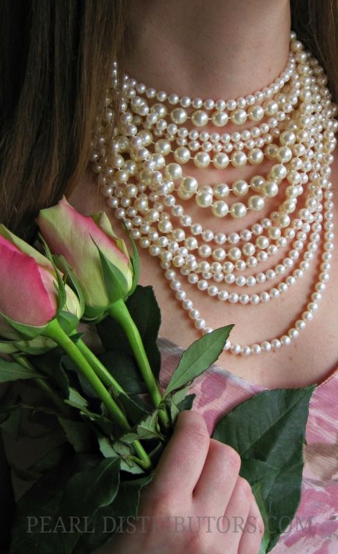 Pearls and pink roses ~ Southern style