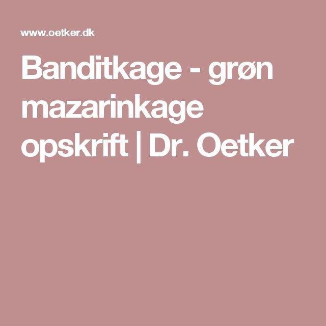 Banditkage - grøn mazarinkage opskrift | Dr. Oetker