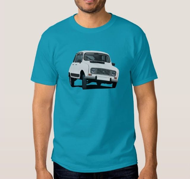 White Renault 4 from 80's. #french #france #automobiles #car #automobile #classiccars #illustration #80s #tshirt #tshirts #redbubble #vintage #white #auto #zazzle #renault4 #renault4l #renault #renaultR4