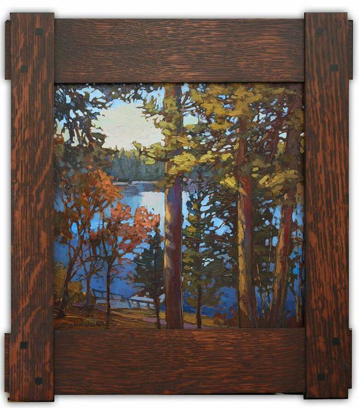"Jan Schmuckal - ""Path To The Dock"" - Lake Arrowhead - Dard Hunter Frame - Arts & Crafts - Craftsman - Bungalow"