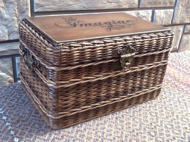 """Купить Шкатулка """"Vintage"""" - шкатулка, плетеный короб, подарок, для интерьера, аптечка, для дачи, корзина плетеная"""