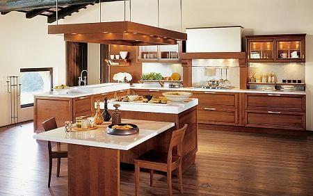 cocina moderna con muebles de algarrobo
