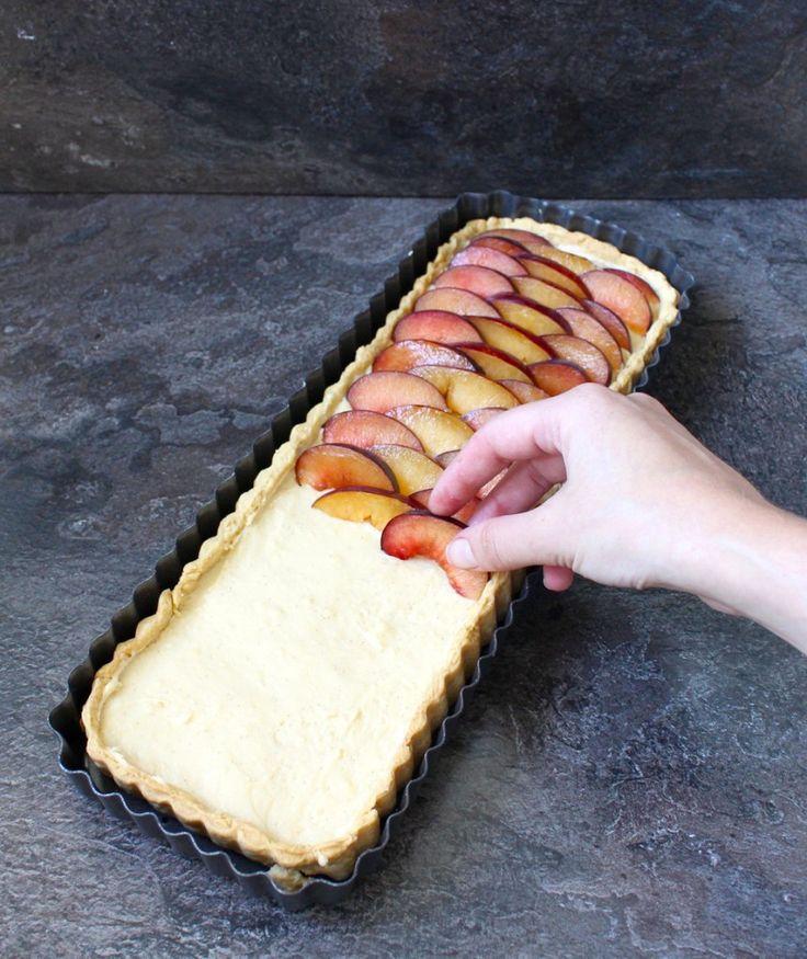 Plum and Vanilla Custard Tart