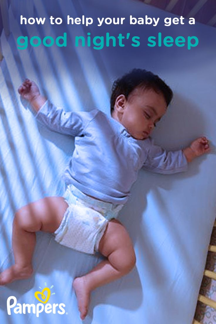 Help your little onesleeprestfully and stay dry through the night with these tips for how to help your baby get a good night's sleep. With Pampers diapers, you can get up to 12 hours of overnight dryness, and with this baby sleep training guide,your little sleeper may restsoundly and safely through the night—giving you peace of mind at bedtime.