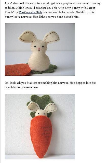 lol felt bunny.