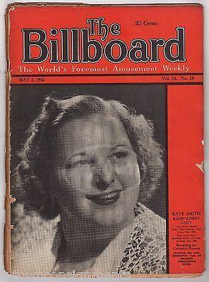 KATE SMITH HOUR RADIO STAR VINTAGE THE BILLBOARD MUSIC NEWS MAGAZINE 1942