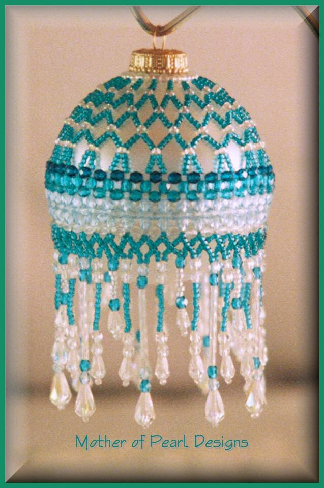 Beaded Sparkling Ruffles Ornament Cover Pattern | BeadedBundles ... | Use up…
