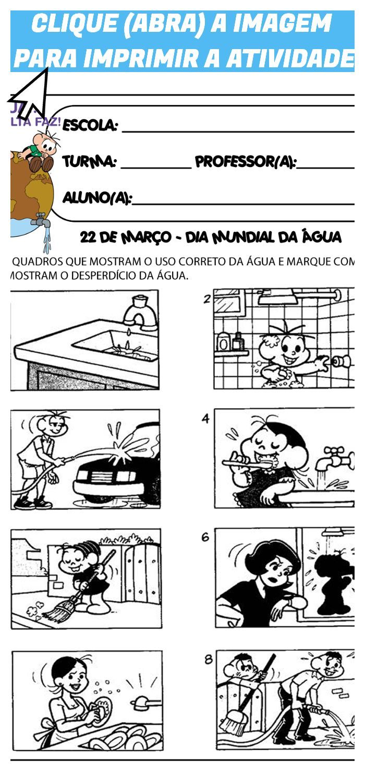 Atividades Escolares Para O Comemorar O Dia Da Agua 22 De Marco