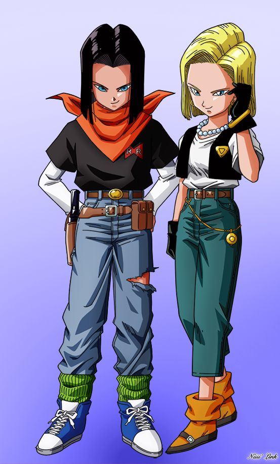 C17 and C18 by Niiii-Link.deviantart.com on @DeviantArt - Visit now for 3D Dragon Ball Z shirts now on sale!