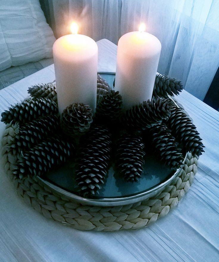 Norwegian cones as decoration. Designed by Urszula Koronczewska.