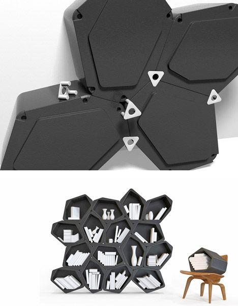 Tessellating Black Blocks Create Free-Form Furniture                                                                                                                                                                                 More