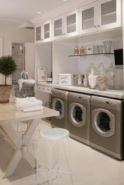 laundry room ideas for design and decorationi like the apothecary jars filled with clothes pins and laundry room items and the counter over the washer and - Laundry Room Decor