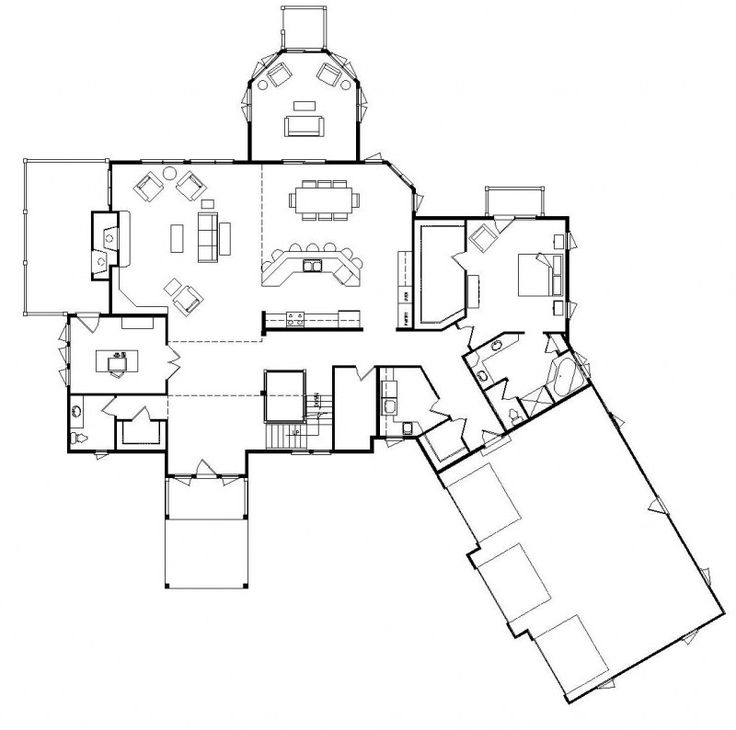 best 20 unique floor plans ideas on pinterest - Open Floor Plans