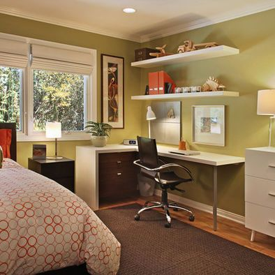 Guest bedroom - home office