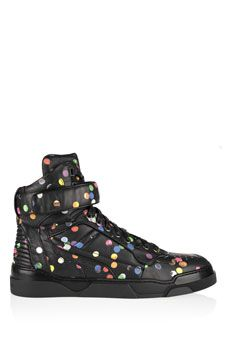 Givenchy Tyson high-top sneakers in confetti-print leather    NET-A-PORTER