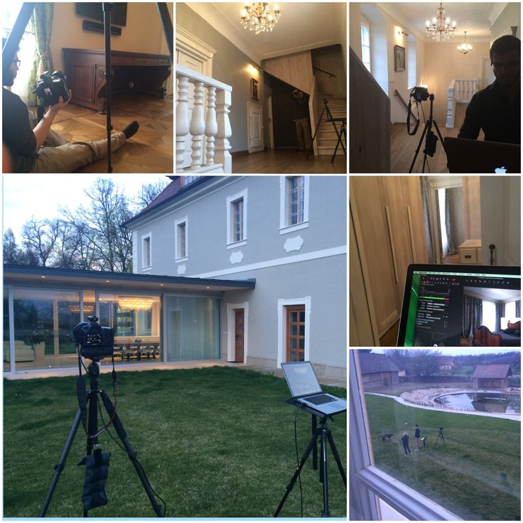 Behind the scenes interior and exterior shooting.