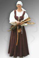 """Laat middeleeuws dames burgerkostuum. Goede ideeën voor wie """"ganz A"""" gekleed wil gaan. (Uitdrukking van de echte fanatiekelingen uit Duitsland: """"ganz authentisch"""")"""