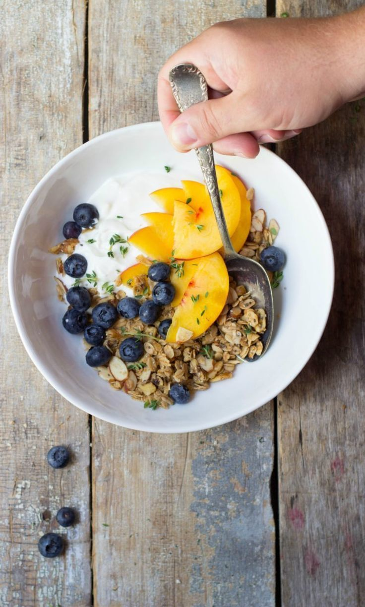 Visit your local farmers market for fresh, seasonal fruit so you can make these surprisingly simple and delightfully stunning Nutty Maple Granola Yogurt Bowls for brunch.
