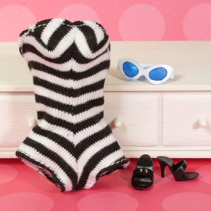 Vtg Barbie Ponytail Doll REPRODUCTION Swimsuit OT Heel Sunglasses Newly Debox sd #Mattel