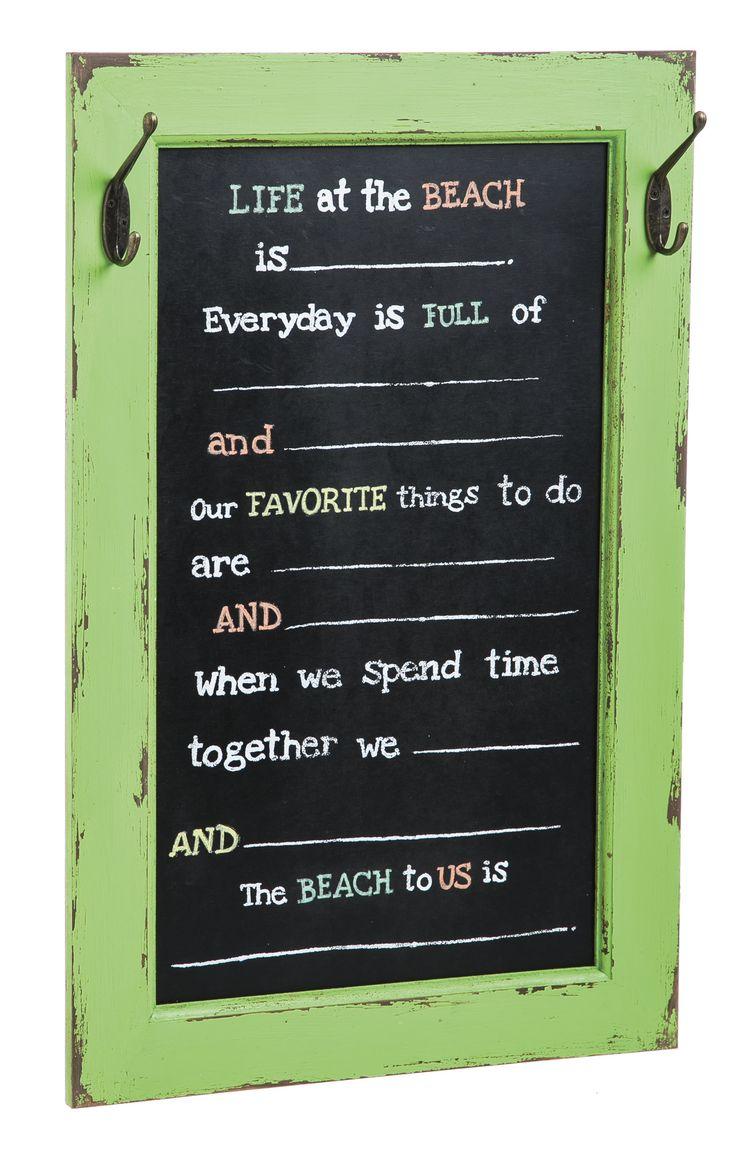 Mad Libs Beach Framed Chalkboard Wall Decor
