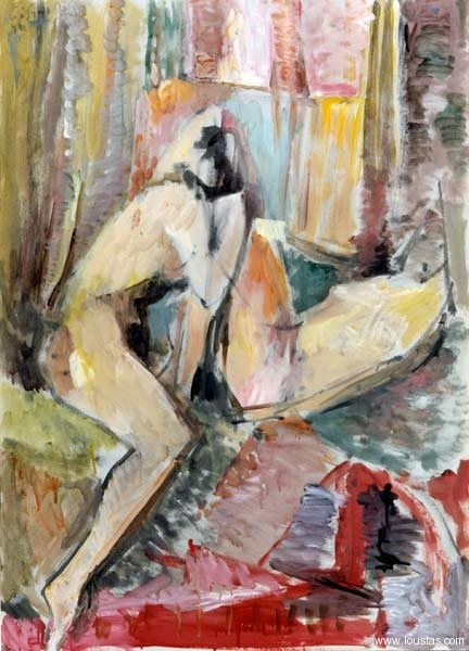 Nude, 1999, Oil on cardboard, 105x75cm