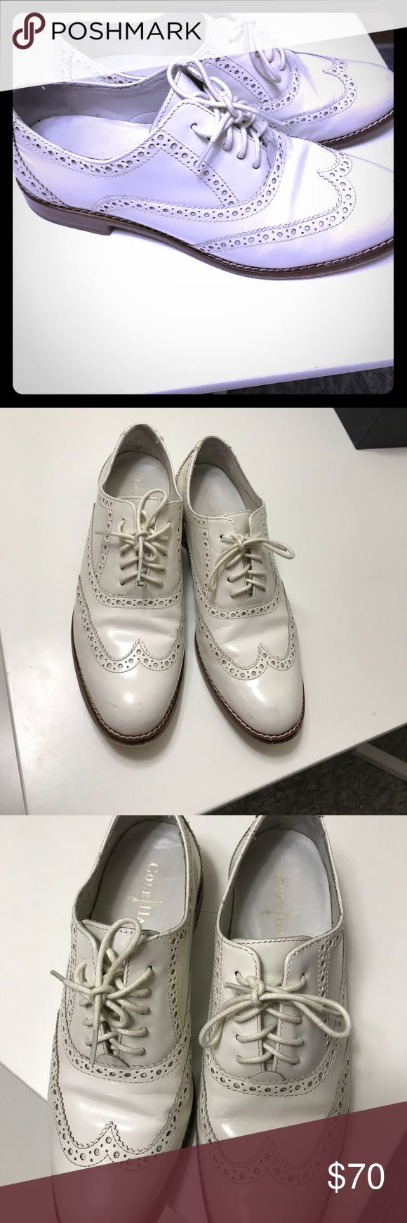 Cole Haan Womens Jagger Saddle Oxford Shoes -7 Cole Haan Womens Jagger Saddle Oxford Shoes -Smooth burnished calfskin upper. Cap toe. Fully leather lined. Fully padded leather sock lining. Mini stacked heel. Excellent Condition.not much use Cole Haan Shoes