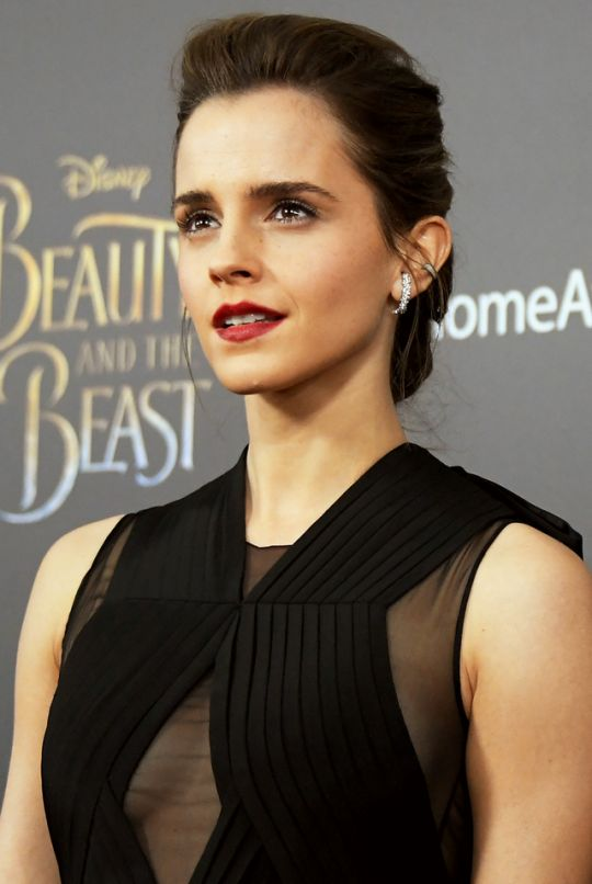 Emma Watson attends the 'Beauty And The Beast' New York screening at Alice Tully Hall at Lincoln Center in New York, NY, on March 13, 2017.  Pinned by @lilyriverside