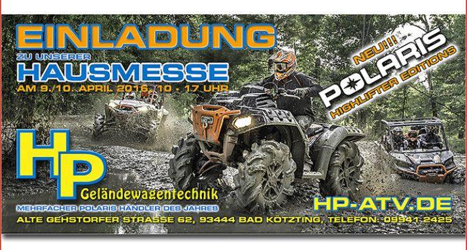 HP Hausmesse 2016: Polaris Slingshot + Highlifter Die Slingshot und die Highlifter-Modelle von Polaris stehen im Mittelpunkt auf der HP Hausmesse 2016 am 9. und 10. April in Bad Kötzting http://www.atv-quad-magazin.com/aktuell/hp-hausmesse-2016-polaris-slingshot-highlifter/ #hausmesse #tagderoffenentür #hpgeländewagentechnik #offroad #show #ausstellung #bayrischerwald #badkötzting