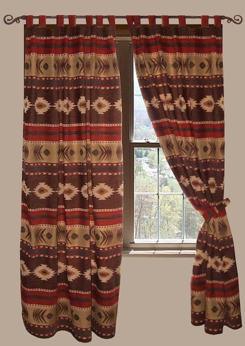 Cimarron Curtain and Valances | Lodge, Western, Southwest and Southwestern Comforter Sets | PaulsHomeFashions.com