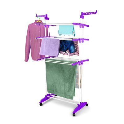 Bonita Maximo Multi Function Clothes Dryer Stand Color: Plum