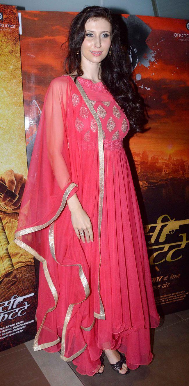 Claudia Ciesla at special screening of 'Desi Kattey'. #Bollywood #Fashion #Style #Beauty
