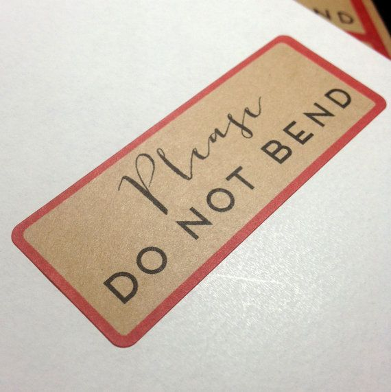 29 Best Do Not Bend Ideas Images On Pinterest Stamping