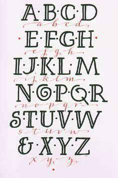 faux calligraphy alphabet - Google Search                                                                                                                                                                                 More