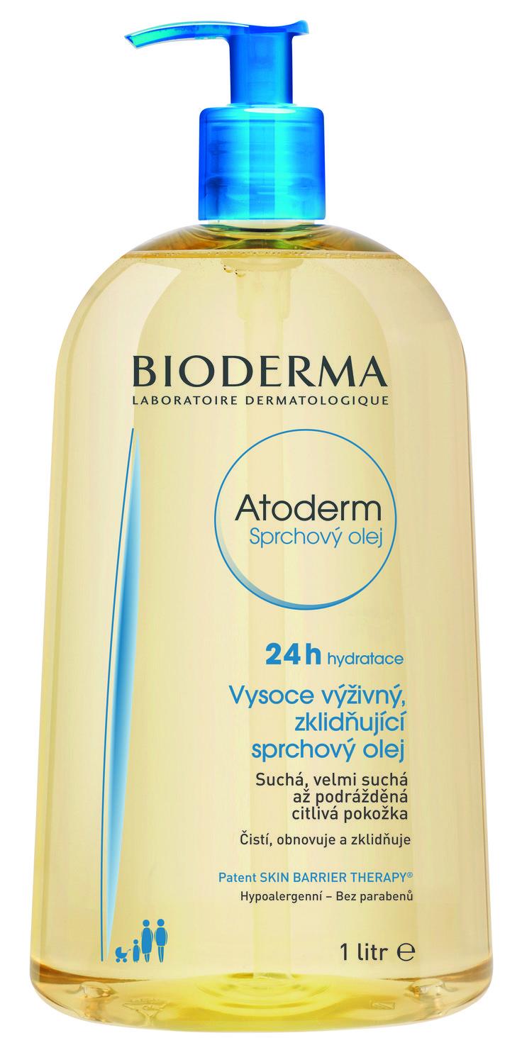 Vysoce výživný sprchový olej Atoderm pro suchou pleť.