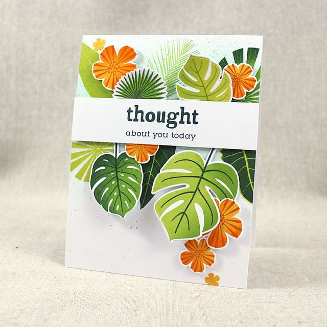Thought About You Card by Lizzie Jones for Papertrey Ink (January 2017)