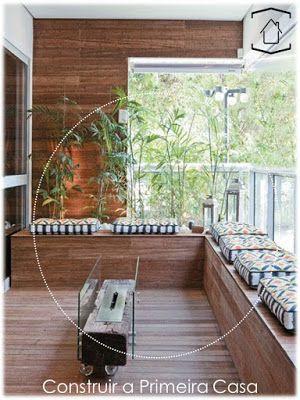 lareira embutida na sua varanda