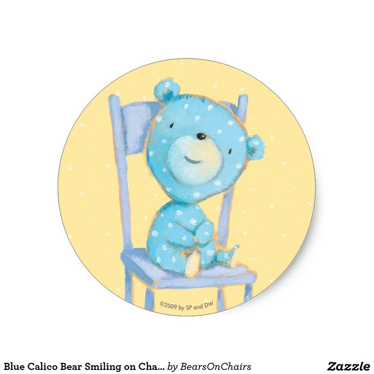 Bears On Chairs. Baby, bebé. Regalos, Gifts. #sticker