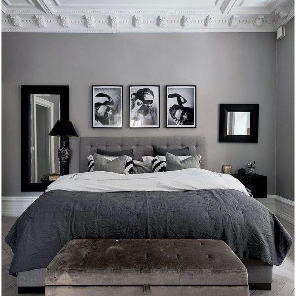 Top 60 Best Grey Bedroom Ideas Neutral Interior Designs White Bedroom Decor Gray Master Bedroom Classy Bedroom