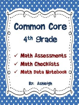 Common Core Math Assessments for 4th Grade
