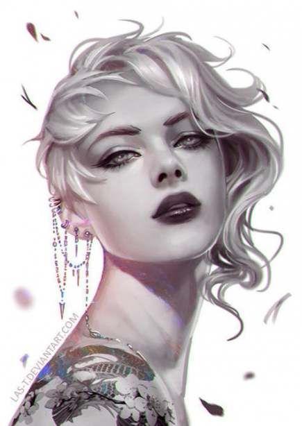 Tattoo Girl Illustration Portraits 48 Best Ideas