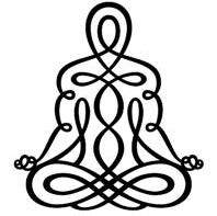 yoga - would love to paint this on the wall in my yoga room.