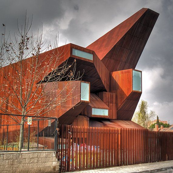 Parish Church of Santa Monica, Architect: Vicens & Ramos Location: Madrid, Spain. Completion Date: 2009
