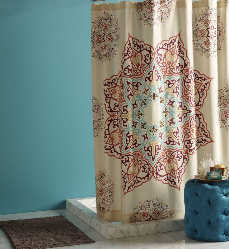 Blissliving Home Chanda Cotton Shower Curtain