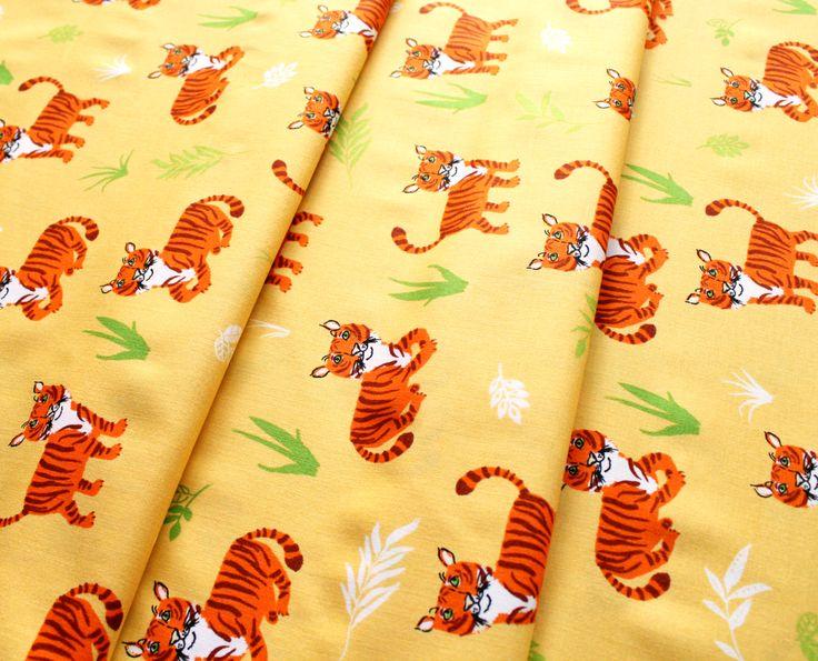 Robert Kaufman Wild Adventure Tigers Wild/Yellow