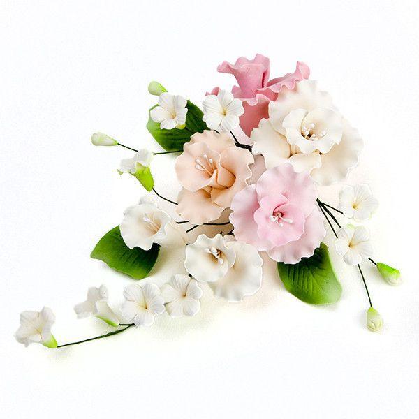 Readymade Gumpaste orchid Sugarflower cake topper. | CaljavaOnline.com
