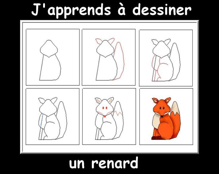 J 39 apprends dessiner le corbeau et le renard le blog de - Dessiner un ours en maternelle ...