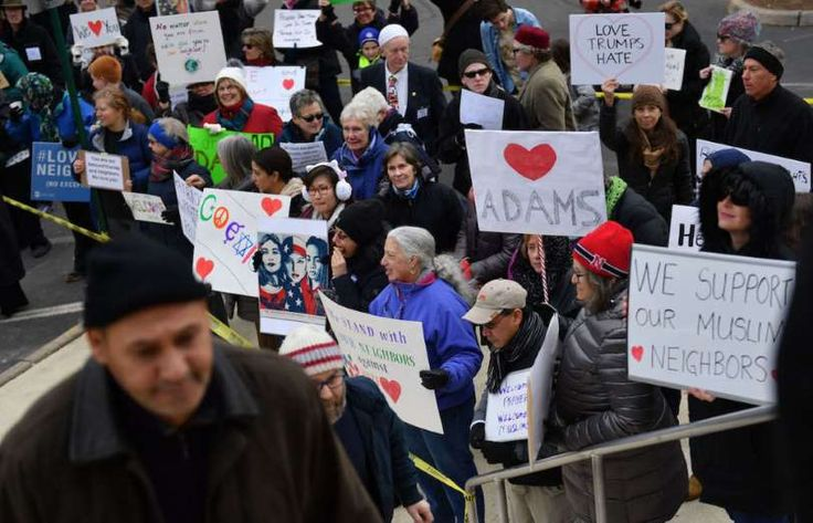 In the wake of President Trump's Muslim ban, residents of Sterling, Virginia showed their solidarity... - Getty