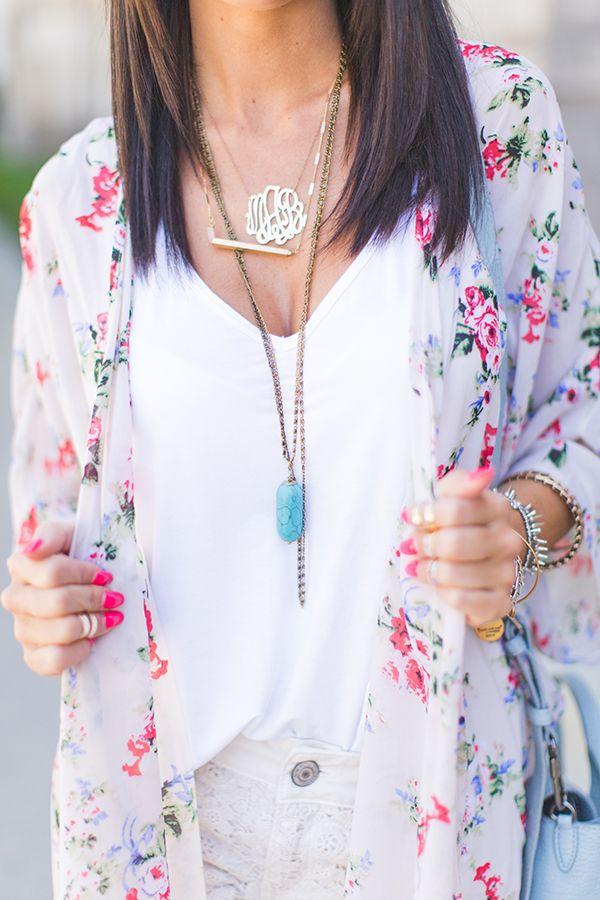 Kimono | Layered Necklaces | Styled Avenue
