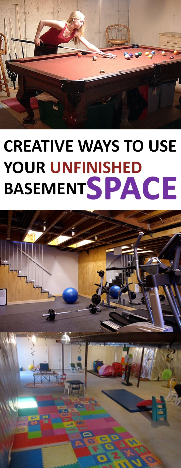 Only best 25 ideas about unfinished basement decorating for Appraisal value of unfinished basement